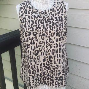 CAbi | Ginger leopard print blouse